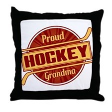 Proud Hockey Grandma Throw Pillow