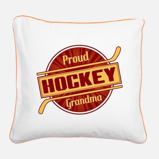 Proud Hockey Grandma Square Canvas Pillow