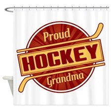 Proud Hockey Grandma Shower Curtain