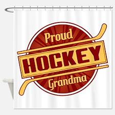 Proud Hockey Grandma Shower Curtain