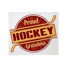 Proud Hockey Grandma Throw Blanket