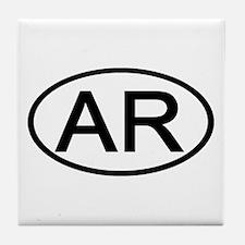 AR Oval - Arkansas Tile Coaster