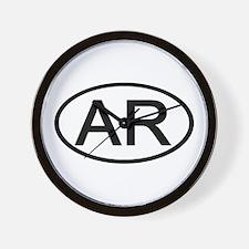 AR Oval - Arkansas Wall Clock