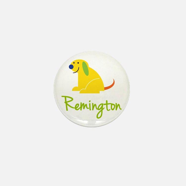 Remington Loves Puppies Mini Button