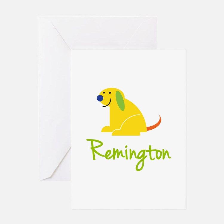 Remington Loves Puppies Greeting Card