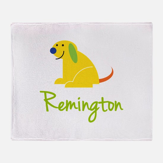 Remington Loves Puppies Throw Blanket