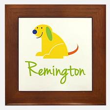 Remington Loves Puppies Framed Tile
