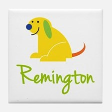 Remington Loves Puppies Tile Coaster