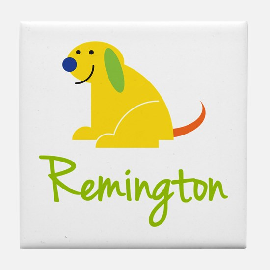 Remington Loves Puppies Tile Coaster