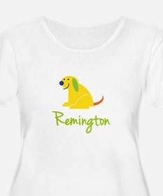 Remington Loves Puppies Plus Size T-Shirt