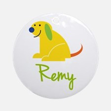 Remy Loves Puppies Ornament (Round)