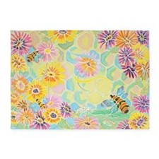 """Bumble Bee Paradise"" 5'x7'Area Rug"