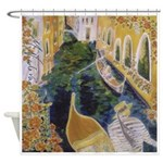 """Gondolier of Venice"" Shower Curtain"