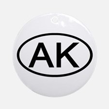 AK Oval - Alaska Ornament (Round)