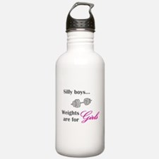 Silly boys...Weights are for Girls. Water Bottle