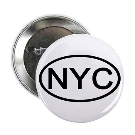 "NYC Oval - New York City 2.25"" Button (100 pack)"