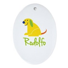 Rodolfo Loves Puppies Ornament (Oval)