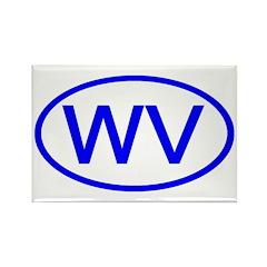 WV Oval - West Virginia Rectangle Magnet (10 pack)