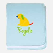 Rogelio Loves Puppies baby blanket