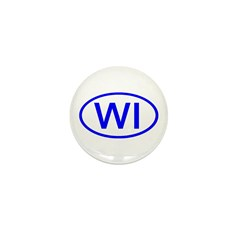 WI Oval - Wisconsin Mini Button (10 pack)