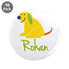 """Rohan Loves Puppies 3.5"""" Button (10 pack)"""