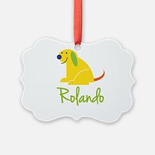 Rolando Loves Puppies Ornament