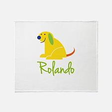 Rolando Loves Puppies Throw Blanket