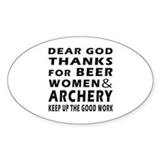Beer Women And Archery Decal