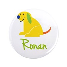 "Ronan Loves Puppies 3.5"" Button"