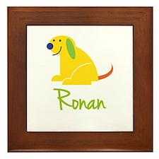 Ronan Loves Puppies Framed Tile