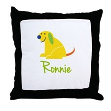 Ronnie Loves Puppies Throw Pillow