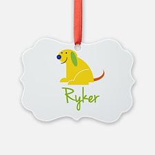 Ryker Loves Puppies Ornament