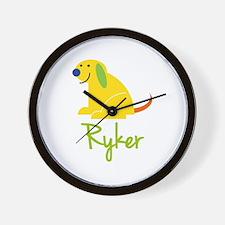 Ryker Loves Puppies Wall Clock