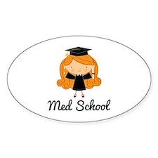 Cute Med School Graduate Decal