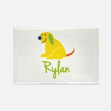 Rylan Loves Puppies Rectangle Magnet