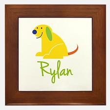 Rylan Loves Puppies Framed Tile