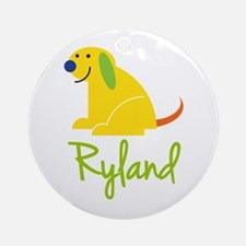 Ryland Loves Puppies Ornament (Round)