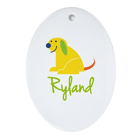 Ryland Loves Puppies Ornament (Oval)