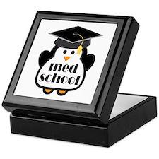 Med School penguin Keepsake Box