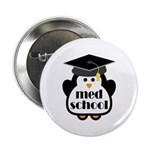 "Med School penguin 2.25"" Button"
