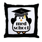 Med School penguin Throw Pillow