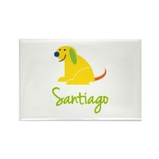 Santiago Loves Puppies Rectangle Magnet (100 pack)