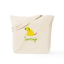Santiago Loves Puppies Tote Bag
