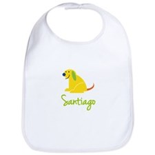Santiago Loves Puppies Bib