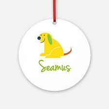 Seamus Loves Puppies Ornament (Round)