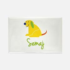 Semaj Loves Puppies Rectangle Magnet