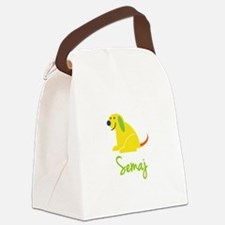 Semaj Loves Puppies Canvas Lunch Bag
