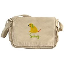 Semaj Loves Puppies Messenger Bag