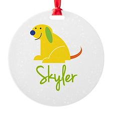 Skyler Loves Puppies Ornament