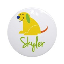 Skyler Loves Puppies Ornament (Round)